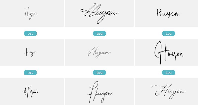Mẫu chữ ký đẹp tên Huyền