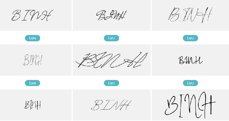 Mẫu chữ ký đẹp tên Bình